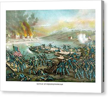The Battle Of Fredericksburg Canvas Print by War Is Hell Store