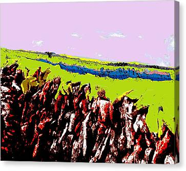 The Battle Of Gorseberry Plain Canvas Print by Cliff Wilson