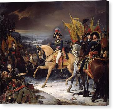 The Battle Of Hohenlinden Canvas Print by Henri Frederic Schopin