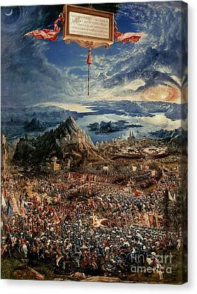 The Battle Of Issus Canvas Print by Albrecht Altdorfer