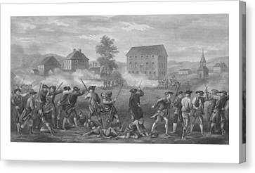 The Battle Of Lexington Canvas Print by War Is Hell Store