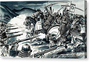 The Battle Of Nagashino In 1575 Canvas Print by Dan Escott