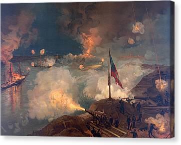 The Battle Of Port Hudson, 1863  Canvas Print