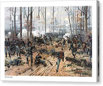 The Battle Of Shiloh Canvas Print by War Is Hell Store