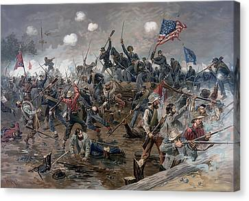 The Battle Of Spotsylvania Court House - Civil War Canvas Print by War Is Hell Store