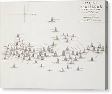 Collingwood Canvas Print - The Battle Of Trafalgar by Alexander Keith Johnston