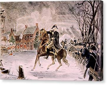 The Battle Of Trenton, General George Canvas Print