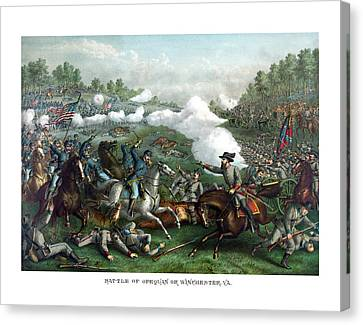 The Battle Of Winchester Canvas Print by War Is Hell Store