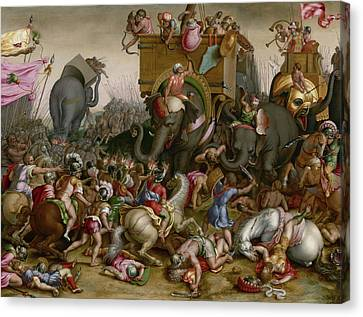 The Battle Of Zama Canvas Print