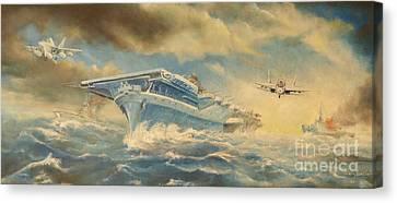 The Battle Canvas Print by Sorin Apostolescu