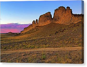 Canvas Print featuring the photograph The Battlements Of Shiprock - New Mexico - Landscape by Jason Politte