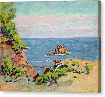 The Baumettes Canvas Print by Jean Baptiste Armand Guillaumin