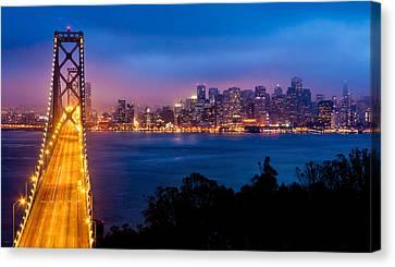 Suspension Canvas Print - The Bay Bridge by Alexis Birkill