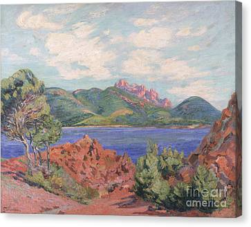The Bay Of Agay Canvas Print by Jean Baptiste Armand Guillaumin
