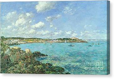 The Bay Of Douarnenez Canvas Print by Eugene Louis Boudin
