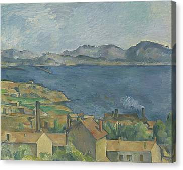 The Bay Of Marseille Canvas Print by Paul Cezanne