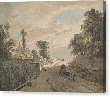 The Bayswater Turnpike Canvas Print by Paul Sandby