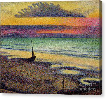Impressionism Canvas Print - The Beach At Heist by Georges Lemmen