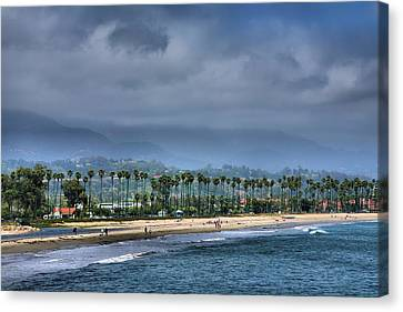 The Beach At Santa Barbara Canvas Print by Steven Ainsworth