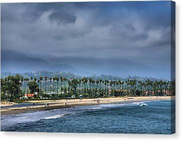 The Beach At Santa Barbara Canvas Print by Steven Ainsworth