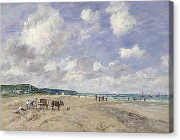 The Beach At Tourgeville Canvas Print