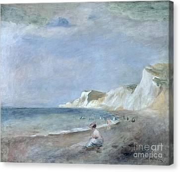 Bather Canvas Print - The Beach At Varangeville by Renoir