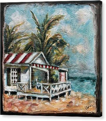 The Beach Canvas Print by Carrie Joy Byrnes