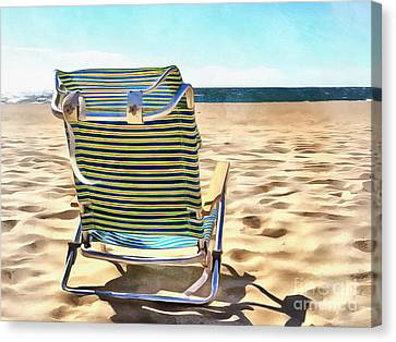 The Beach Chair 2 Canvas Print by Edward Fielding
