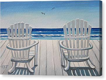 The Beach Chairs Canvas Print