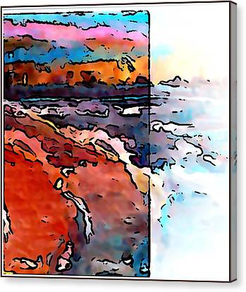 The Beach Canvas Print by Gregory McLaughlin