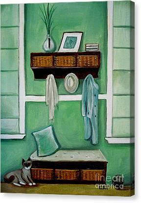 The Beach House Canvas Print by Elizabeth Robinette Tyndall
