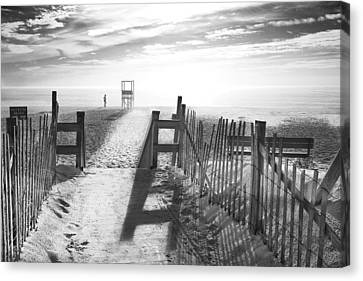 Print Canvas Print - The Beach In Black And White by Dapixara Art