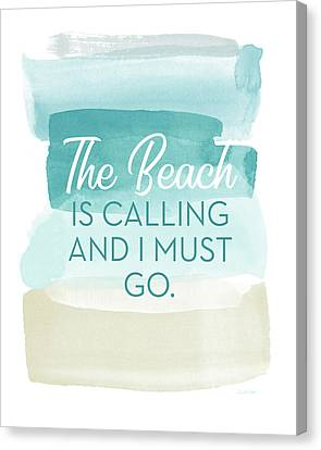 Calling Canvas Print - The Beach Is Calling- Art By Linda Woods by Linda Woods