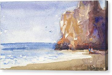 The Beach Canvas Print by Kristina Vardazaryan