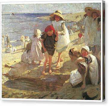 The Beach Canvas Print by Laura Knight