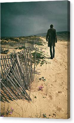 The Beach Man Canvas Print
