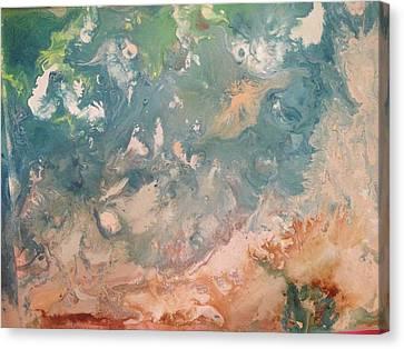 The Beach  Canvas Print by Margalit Romano