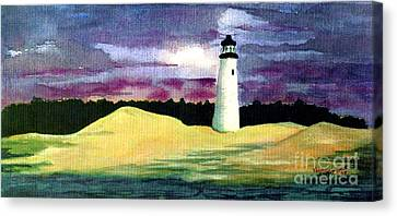 Canvas Print featuring the painting The Beacon by Patricia Griffin Brett