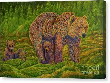 The Bear Family Canvas Print by Veikko Suikkanen