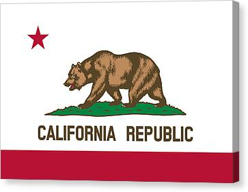 The Bear Flag - State Of California Canvas Print by War Is Hell Store