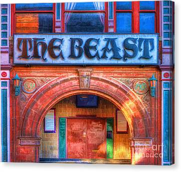 Haunted House Canvas Print - The Beast by L Wright