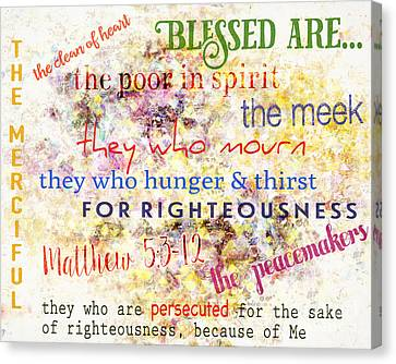 The Beatitudes Canvas Print