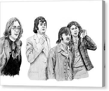 The Beatles, 1968, In Ink Canvas Print