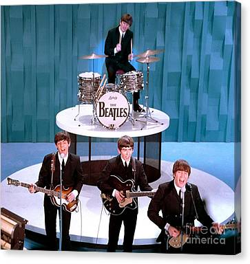 Sullivan Canvas Print - The Beatles American Debut On The Ed Sullivan Show by The Titanic Project