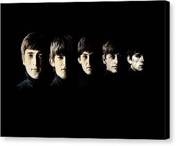 Canvas Print featuring the painting The Beatles Destinies Fate by Iconic Images Art Gallery David Pucciarelli