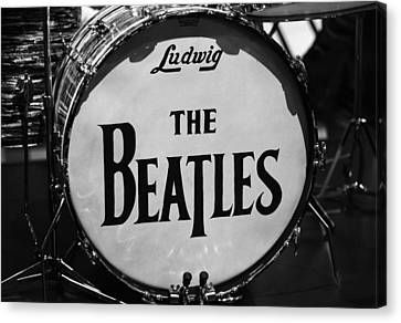 The Beatles Drum Canvas Print by Dan Sproul