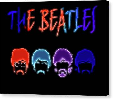 The Beatles Electric Poster Canvas Print by Dan Sproul