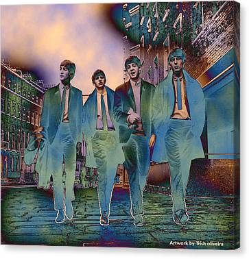 The Beatles Forever Canvas Print by Trish Oliveira