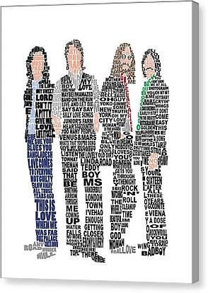 The Beatles  Canvas Print by Gradea Lappin