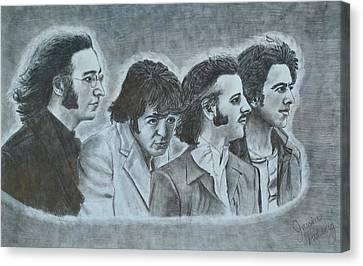 The Beatles  Canvas Print by Jessica Hallberg